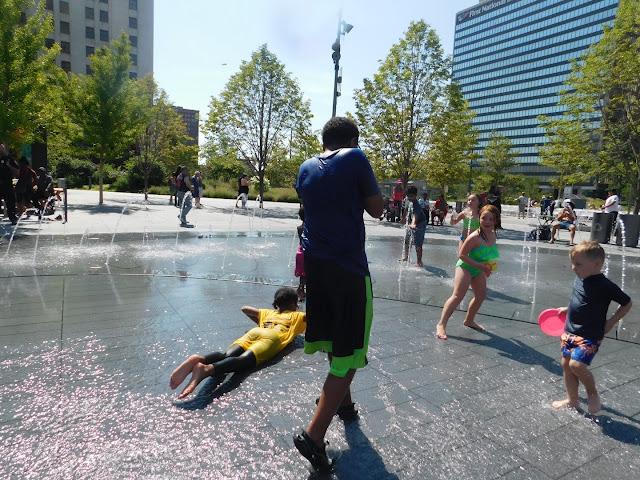 Cleveland Public Square's splash pad