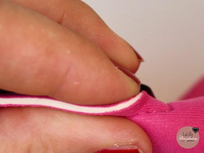"""Scuba wird oft als """"Fashion-Neopren"""" bezeichnet. Im Querschnitt sieht man die Unterschiede: Querschnitt eines Stoffkaschierten Chloropren-Katschuks"""