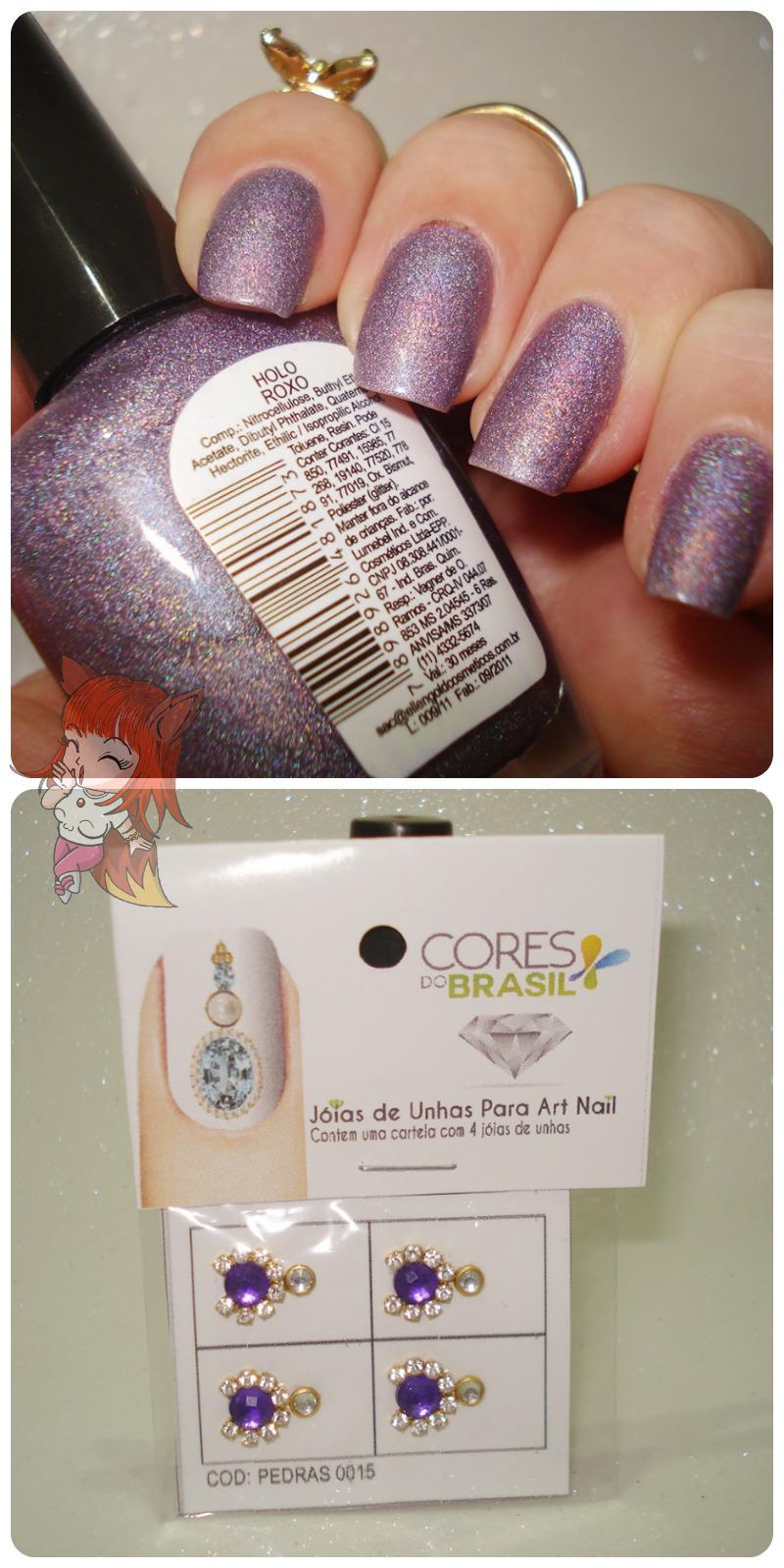 Esmalte Ellen Gold :: Holo Roxo - Desafio #12Meses12Esmaltes