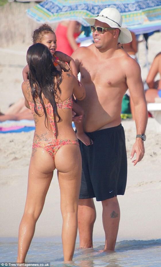 Sexy wife on the beach