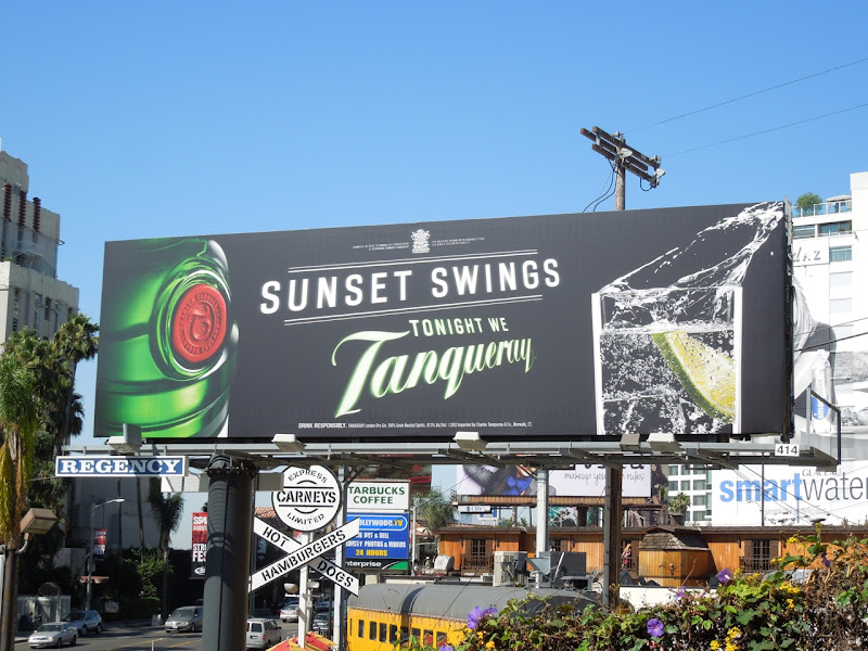 Tanqueray gin Sunset Swings billboard