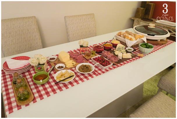 mesa de bruschettas