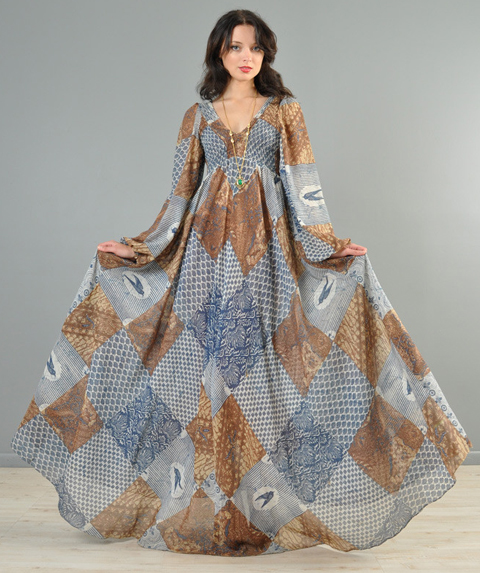 model baju long dress batik modern