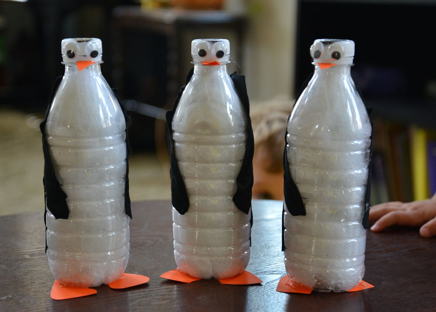 A school of fish penguin unit and water bottle penguins for What to make out of water bottles