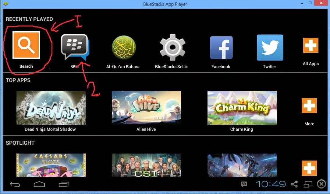 Install bbm di laptop atau pc dengan bluestack