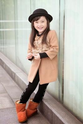 anak kecil perempuan bergaya ala korea