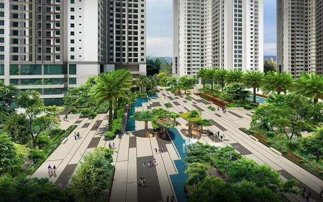 Không gian xanh tại dự án chung cư EcoDream