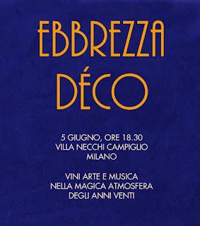 Ebbrezza Déco 5 giugno Milano