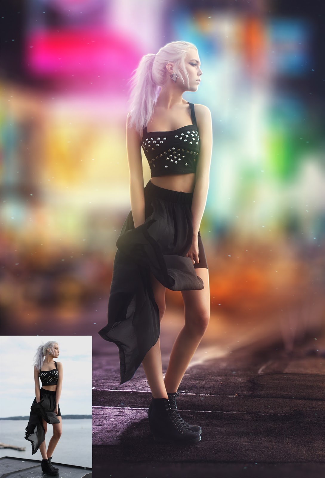 City night background effect photoshop tutorial rafy a city night background effect photoshop tutorial baditri Image collections