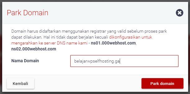 isikan nama domain