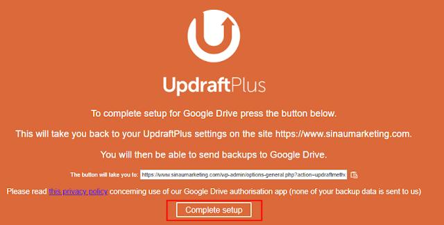 Cara Menyimpan Backup Updraftplus Di Google Drive
