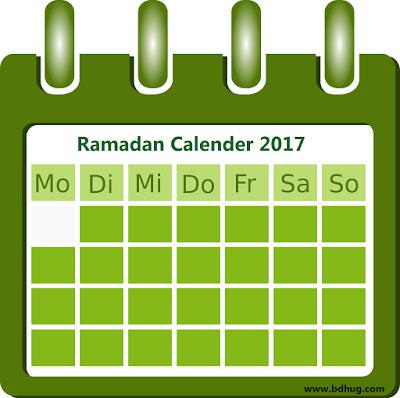 Ramadan 2017 Calendar