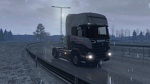 ETS2 Snowing - Snowfall mod by Piva