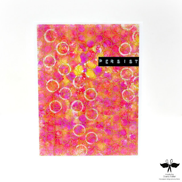 Persist Alcohol Ink Resist Card by Dana Tatar for Paper Wings Productions