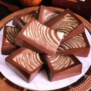 Resep Cara Membuat Pudding Coklat Zebra