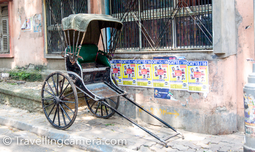 During our trip to Kolkata, we saw these rickshaws everywhere and they look very interesting. At times, I felt like holding one of them and dragging in the streets.