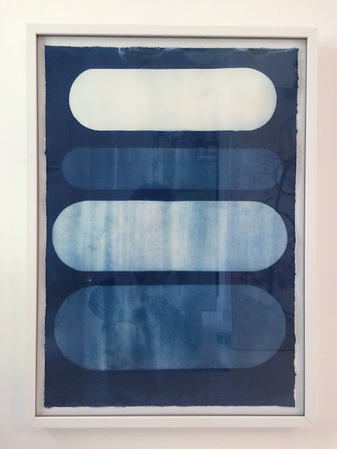cloud landscape blue cyanotype