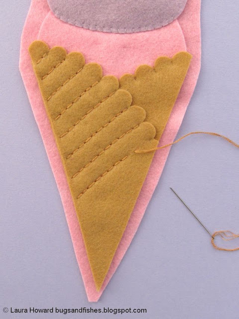embroider the ice cream waffle cone