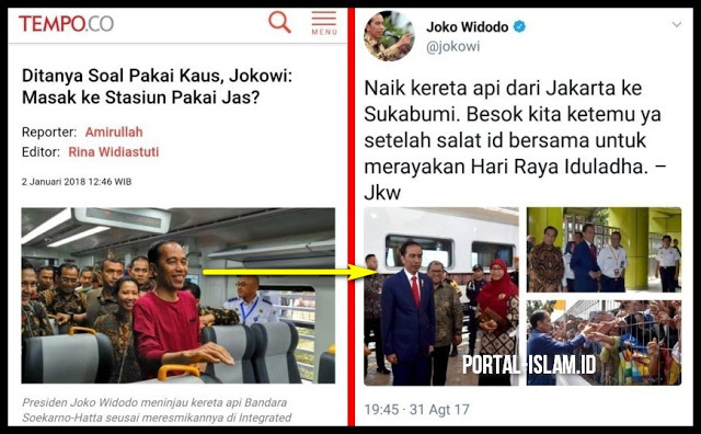 Jokowi: Masak Naik Kereta Api ke Stasiun Pakai Jas? Ternyata Jejak Digital Membuktikan!