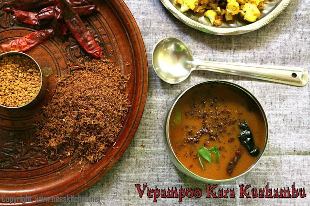Vepampoo Kara Kuzhambu
