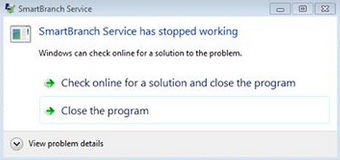 "Solusi Error Smart Billing Server ""stopped working, cannot start SmartBranch"""