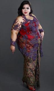 Model Kebaya Untuk Orang Besar Gemuk Simple Elegan Terbaru Tahun Ini
