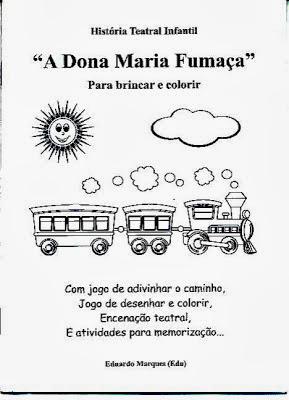 capa do livreto A Dona Maria Fumaça