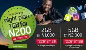 New 9mobile(etisalat) Night Plan Subscription code and Price