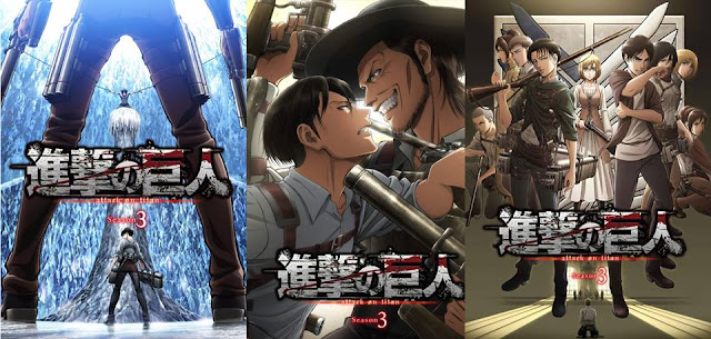 Attack on Titan Season 3 - Poster 1, 2 &  3