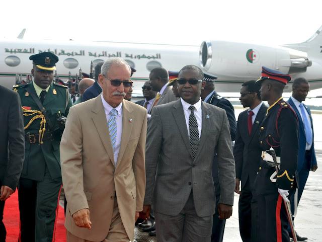 الرئيس الصحراوي والامين العام لجبهة البوليساريو يبدأ زيارة رسمية إلى جمهورية بوتسوانا في إطار جولة لدول جنوب القارة الافريقية