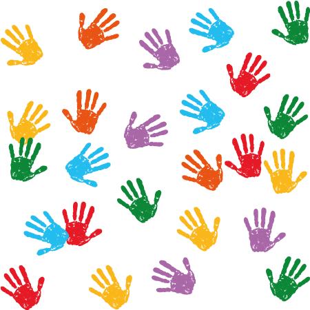 Pintadas con palmas de chicos - Vector