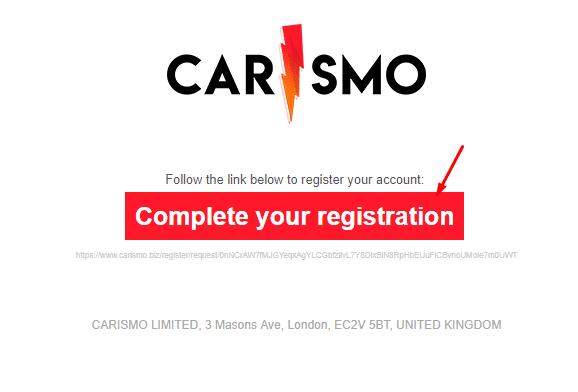 Регистрация в Carismo 2