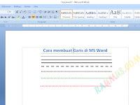 Cara Membuat Garis Tebal atau Tipis di Microsoft Word
