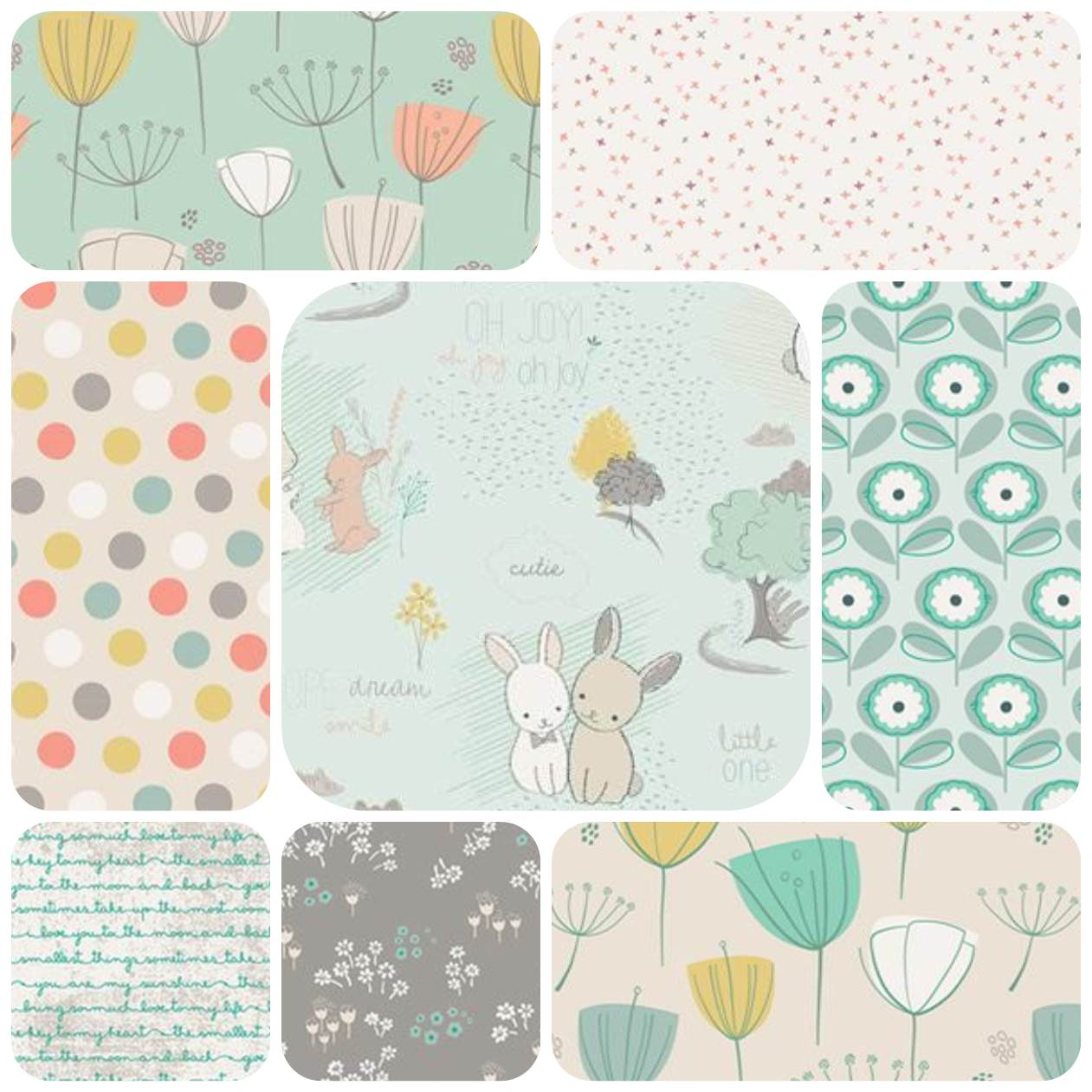 cozy birdhouse | my fabric selection from the art gallery fabrics littlest collection