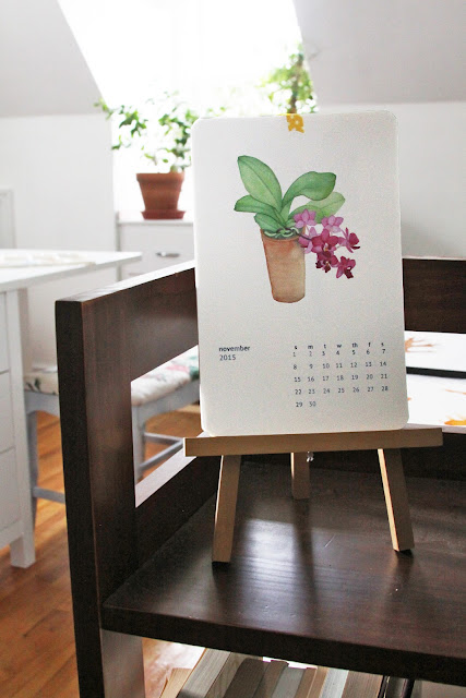 art studio, watercolor calendar, Anne Butera, My Giant Strawberry