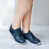 Pantofi dama Piele Corbin albastri casual