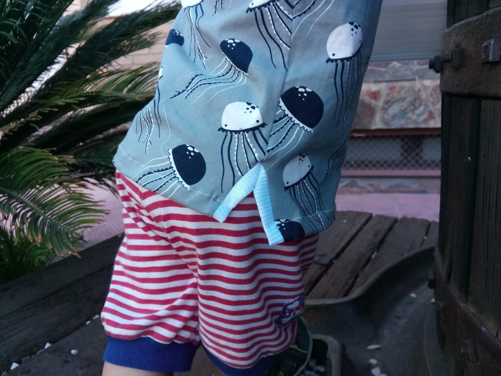 Polo handmade bebe medusas