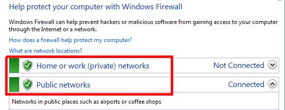 تشغيل وايقاف جدار الحماية في ويندوز 7