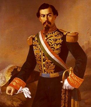 Retrato de Miguel Miramón con ropa militar