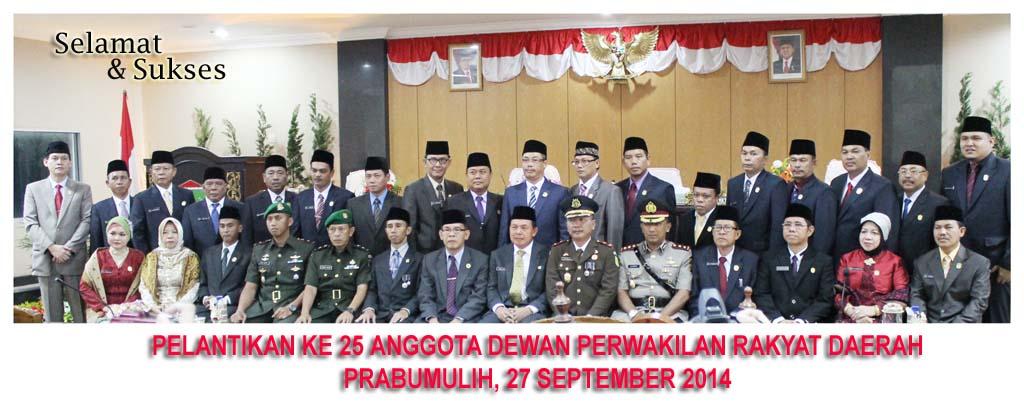 Walikota Prabumulih Resmi Lantik Dprd Ali Ibrahim