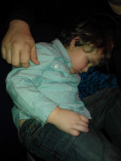 Big Boy asleep during the Milton Keynes Panto