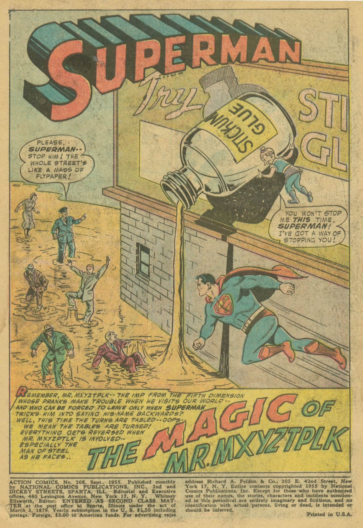 Read online Action Comics (1938) comic -  Issue #208 - 2