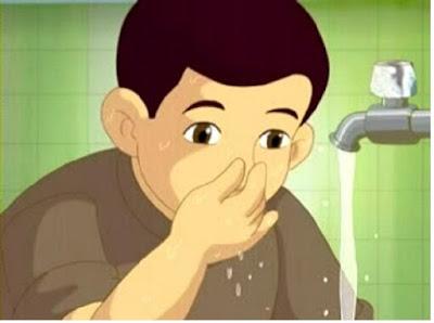 Mencuci lubang hidung (berwudhu) - pustakapengetahuan.com