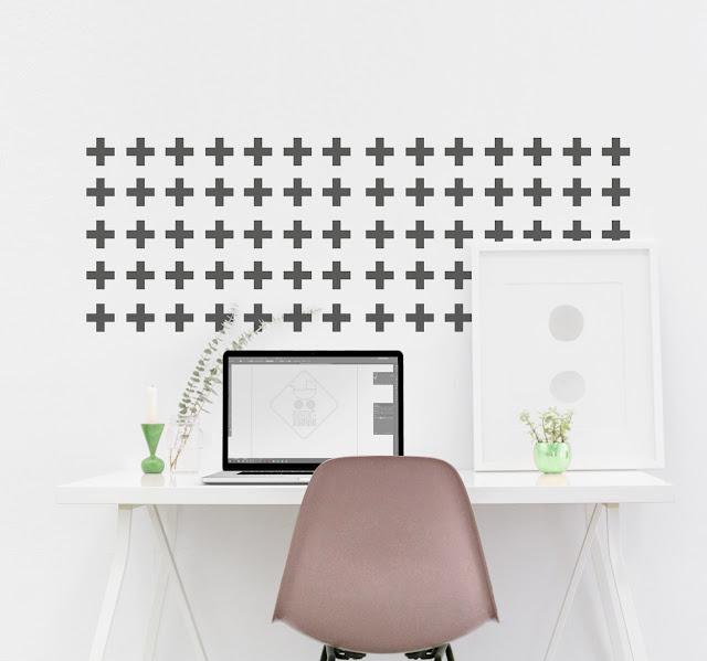decoratie muur plusjes