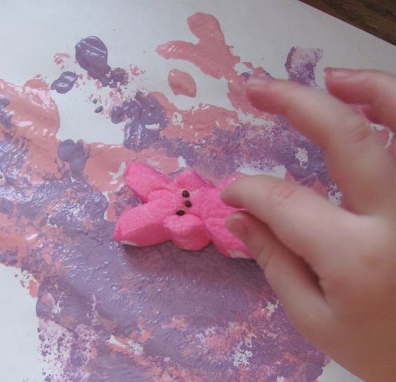 Easter Craft Painting with Peeps