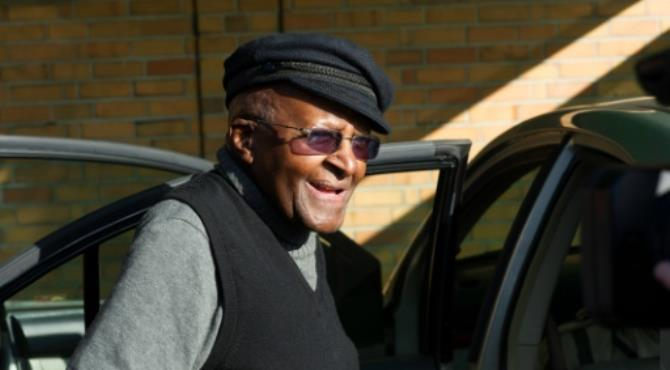 """South Africa's anti-apartheid campaigner Desmond Tutu was awarded the Nobel Peace Prize in 1984. By Rodger Bosch (AFP/File) Cape Town (AFP) - South African retired Anglican archbishop and anti-apartheid icon Desmond Tutu celebrated his 85th birthday Friday presiding over eucharist at his home church in Cape Town, an AFP photographer said.  He paid a moving tribute to St George's Cathedral before laying his head on the communion table and briefly wept. """"I have reached the stage in life when I am closer to the departure than arrivals hall,"""" said Tutu, who was discharged from hospital late last month for the treatment of a nagging infection. """"I have indicated that when the time comes I would like to rest here, permanently, with you,"""" he told the worshippers. Tutu's fondly referred to as the Arch, has spent time in hospital several times since last year for a nagging infection. One reason for his hospitalisation has been an infection resulting from the prostate cancer treatment he has been receiving for nearly 20 years. Tutu, who became the first black Anglican archbishop of Cape Town in 1986, had a cup of tea with the congregants after the Friday morning service. President Jacob Zuma and the last apartheid leader F.W. de Klerk, led tributes to Tutu. In a statement Zuma said Tutu """"has contributed immensely to the freedom and democratic dispensation"""" of South Africa."""