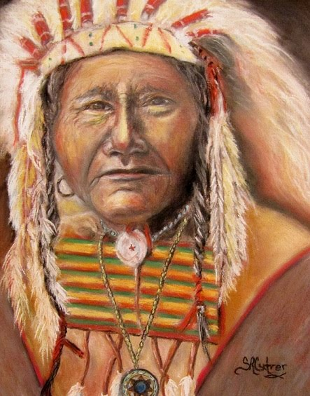 """Tells a Story"",  Native American Indian"