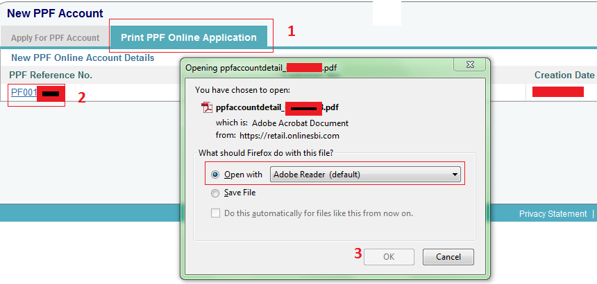 Form opening online pdf sbi account