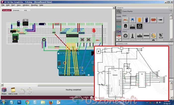 Fritzing- Complete Electronic Circuit Designer, Electronic Project Designer, Electronic Hardware Designer, Electronic board practical Designer software free download