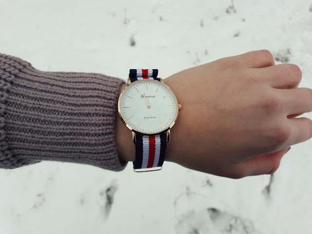 zegarek w paski